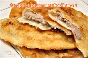 Фото к рецепту: Чебуреки с мясом (очень удачное хрусткое тесто)