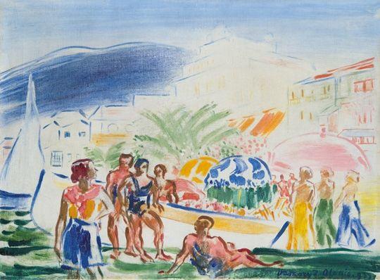 Vaszary János: Alassio-i tengerpart, 1933.