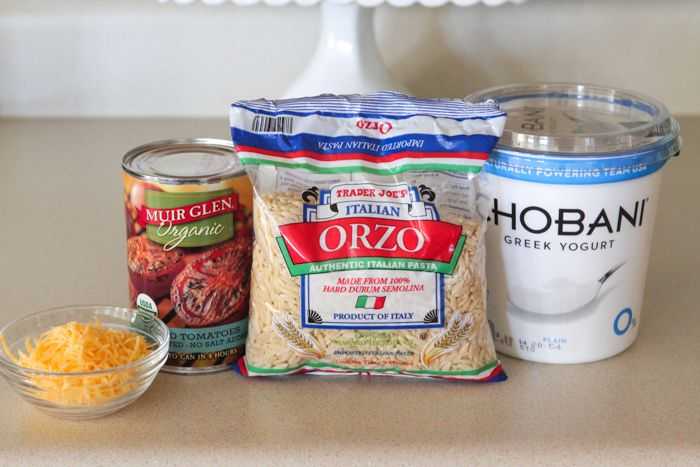 Skinny Tomato Soup with Cheesy Orzo - Picky Palate