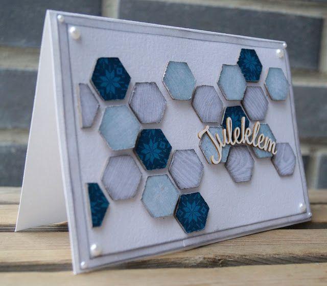Mitt Lille Papirverksted: Hexagon Christmas Card