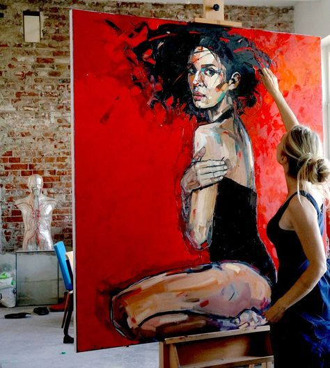 We loved this one…and sold it quickly … Red forest by Anna Bocek – Stéphanie Raimbault