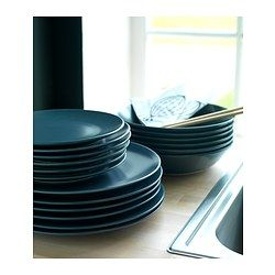 IKEA - DINERA, Side plate, With its simple shapes, muted colors and matt glaze, the dinnerware gives a rustic feel to your table setting.