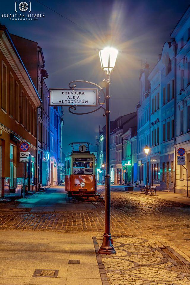 Long lane in Bydgoszcz, Poland
