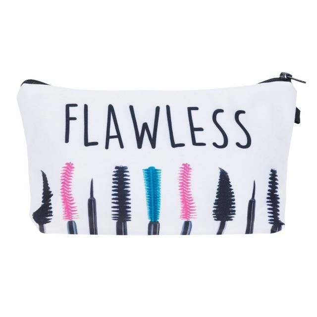 Drashes Dream Big Lashes 3D Print Cosmetic Bags