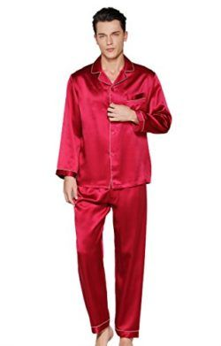 789f8a6326 CLC Men s Pure Mulberry Silk Pajama Set Sleep Sets by Colorful Silk ...