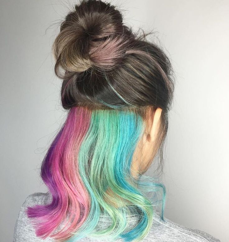 hidden rainbow hair ideas