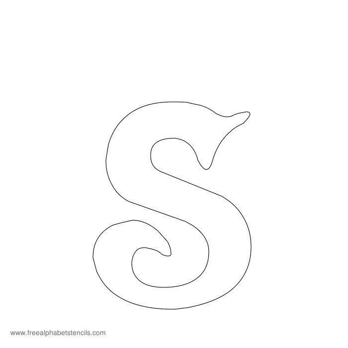 Decorative Alphabet Stencil S