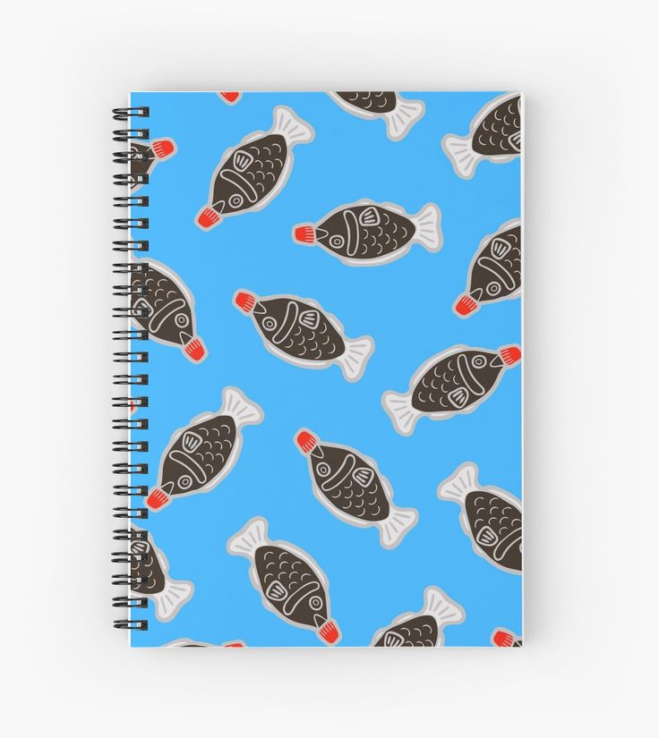 Sushi Soy Fish Pattern in Blue by evannave