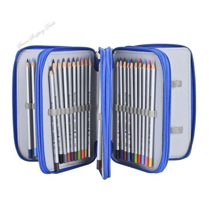 Pencil Case Holder 72 Pencils Pen Bag Storage Organizer School Supplies Student  #PencilCaseHolder
