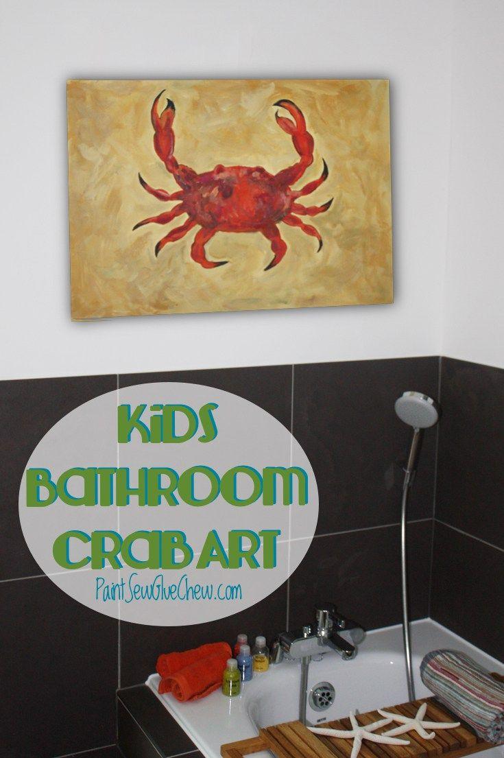 Crab Art – Cute Bathroom Decor