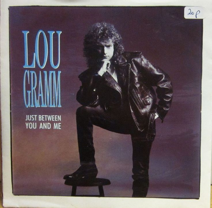 "LOU Gramm 7"" Vinyl Just Between YOU AND ME Atlantic A 8755 Germany EX EX 