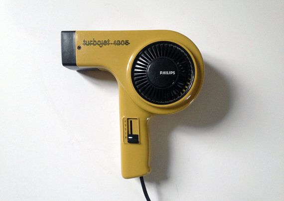 Retro hair dryer - PHILIPS TURBO JET 1205 - made in West Germany