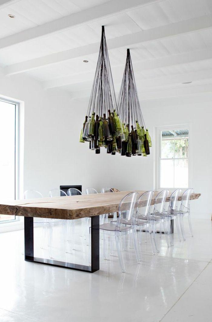 Les 25 meilleures id es concernant chaise transparente sur pinterest fauteuil transparent for Quelle chaise pour table en verre