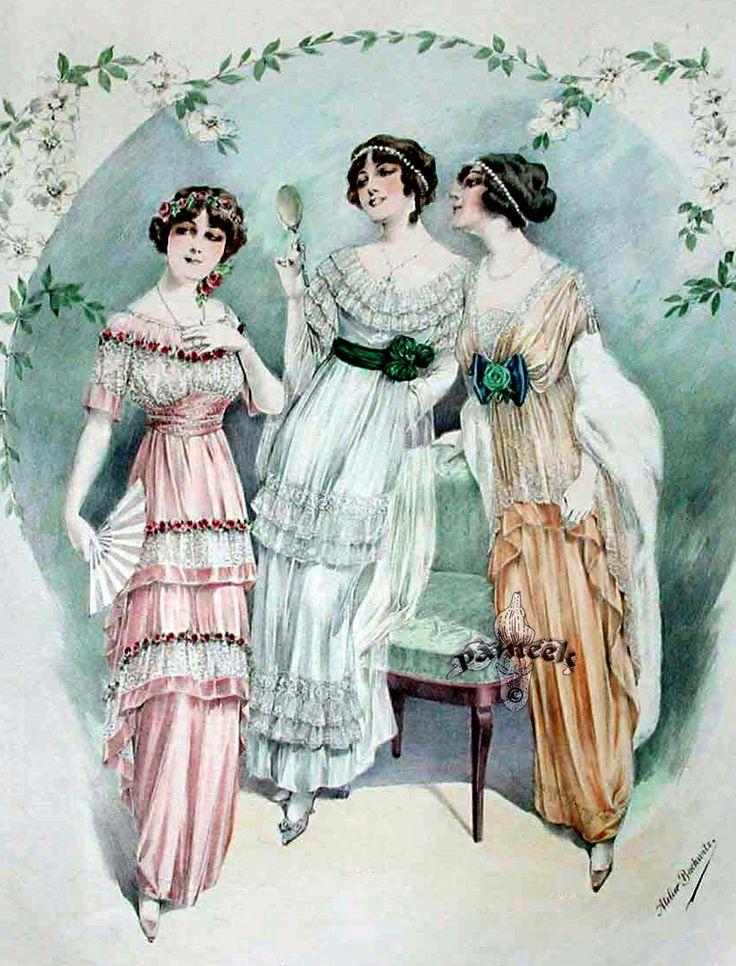 Мода винтажные картинки
