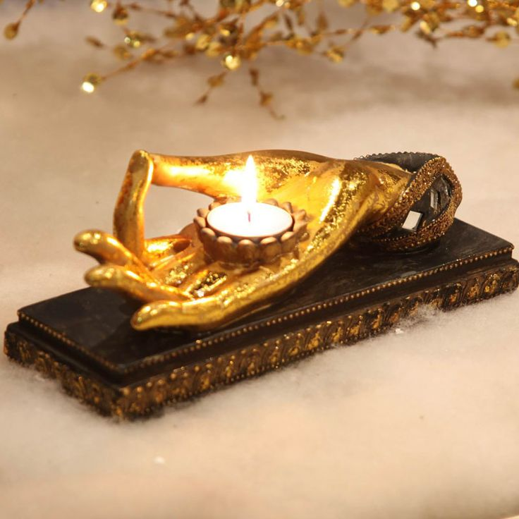 Zen Home Furnishing, buddha hand, resin crafts, living room furniture, Candlestick, candle lamp, candelabrum, candleholder~-in Candle Holders from Home & Garden on Aliexpress.com | Alibaba Group