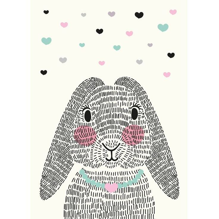 Sparkling Paper kaart mrs Rabbit A6 | Lief en Klein