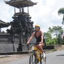 Bali cycling tour pass the Hindu temple. #balicycling #balirafting #baliraftingandbalicycling #baliactivities #balitour