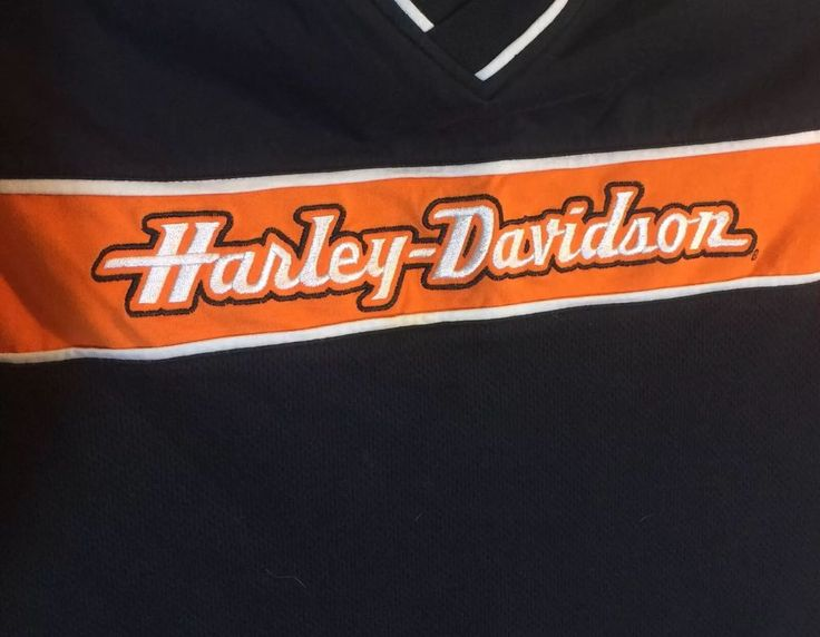 HARLEY DAVIDSON Racing Embroidered Motorcycle Mechanics Garage Shirt XL #HarleyDavidson #PoloRugby