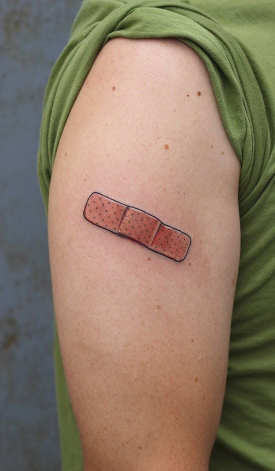 if i ever get a tattoo its of a band aid tattoos