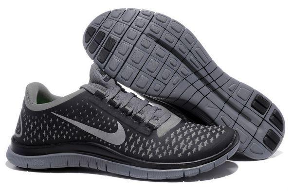 Nike Free Run 3.0 V4 Zapatillas para Hombre Oscuros Grises/Reflexionar Plata-Negras www.esnikerun.com/