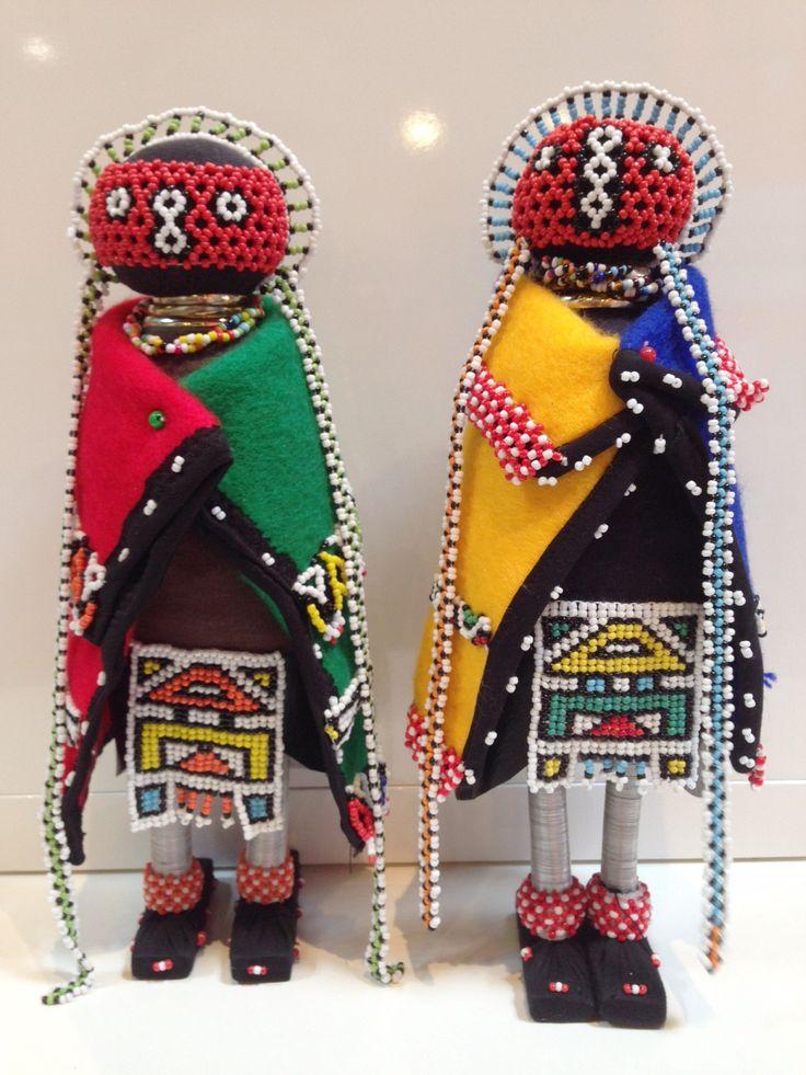 Beaded Ndebele Dolls - Small