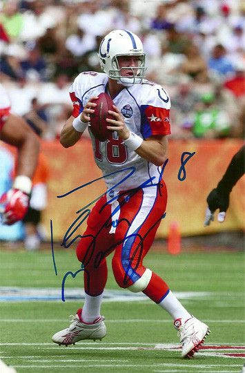 Rare Collectible Peyton Manning Indianapolis Colts Autograph Hand Signed Photo. come with a Certificate of Authenticity Manning holds the record for most NFL MVP awards with four. He was drafted by th