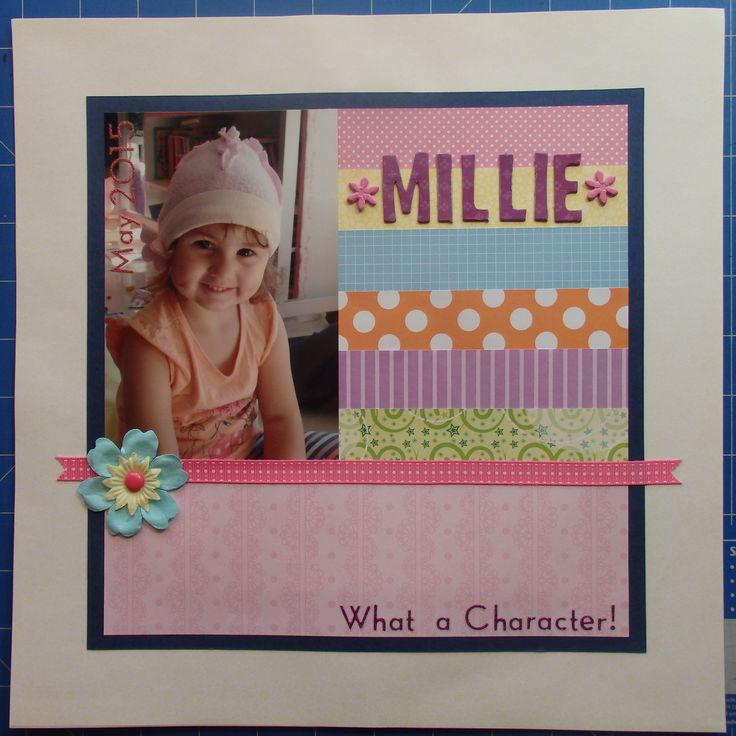 Scrapbook page by Laura: Millie, what a character!