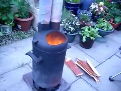 55 gallon pocket rocket stove - YouTube
