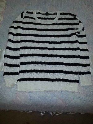 black and white sweater 2x plus forever 21  long sleave