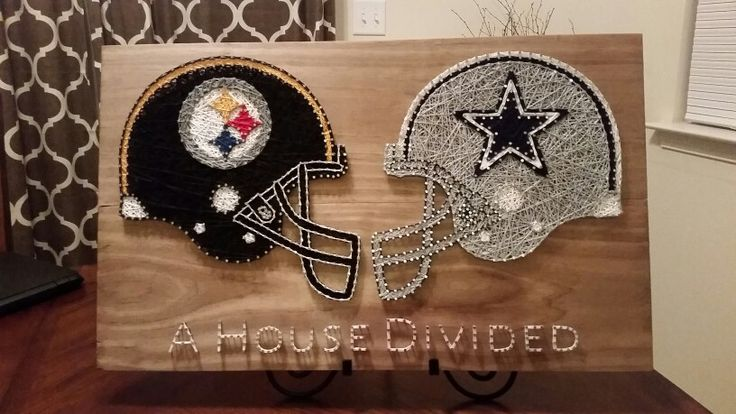 Steelers vs Cowboys string art sign
