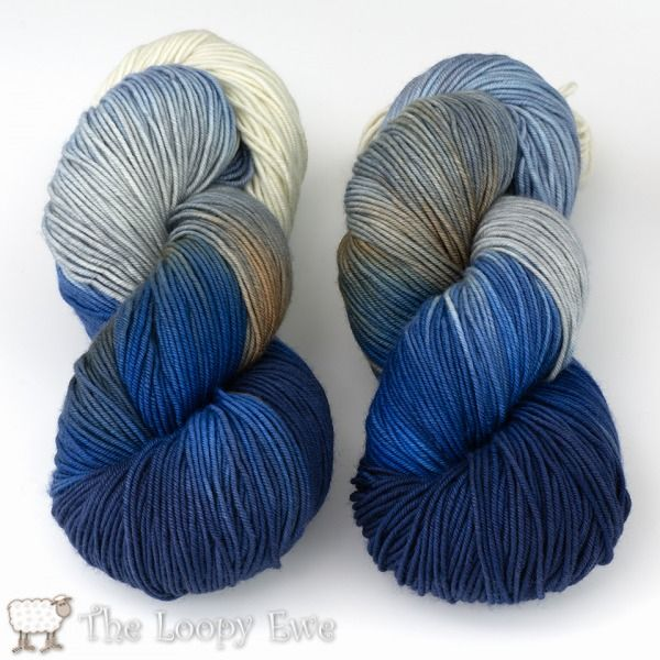 Frosty in Socks that Rock Heavyweight from Blue Moon Fiber Arts at The Loopy Ewe ($29.50)