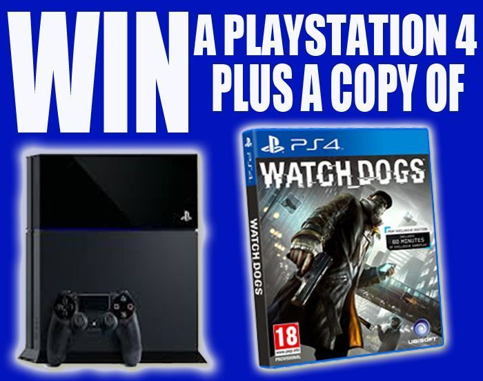 Win a Playstation 4 plus a copy of Watch Dogs / Sunday World