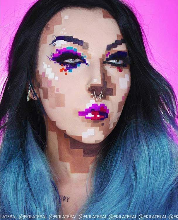 25 Mind-Blowing Makeup Ideas to Try for Halloween                                                                                                                                                     More