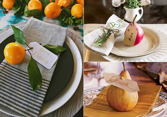 original table decoration and napkins faltideen with orange and pear as tis … – original table decoration and napkins faltideen with orange …