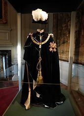 """""""Most Ancient and Most Noble Order of the Thistle"""" display, Holyrood Palace, Edinburgh"""