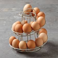 egg skelter - like this style the best but really need one that's larger than just 18 eggs