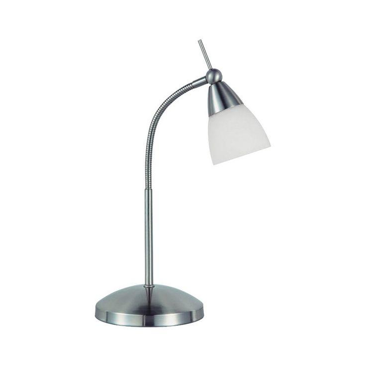 Moderne gerade Tischleuchte Chrom mit Glas dimmbar - Pino Jetzt bestellen unter: https://moebel.ladendirekt.de/lampen/tischleuchten/beistelltischlampen/?uid=e0efd4d5-b492-563d-8857-fcbb84a72428&utm_source=pinterest&utm_medium=pin&utm_campaign=boards #lampen #tischleuchten #modern #beistelltischlampen Bild Quelle: www.lampenundleuchten.de