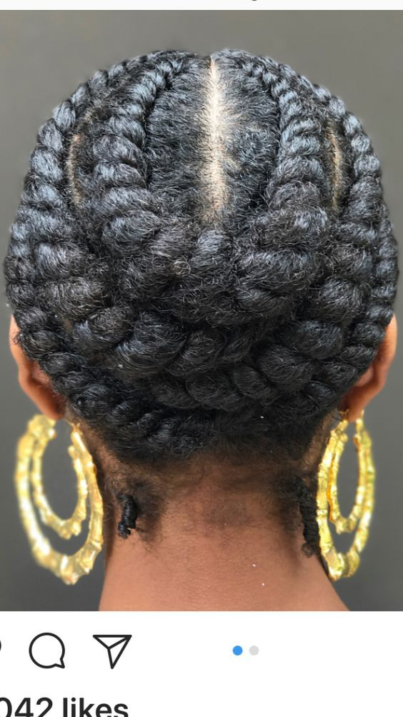 Pinned flat twist #naturalhairstyles #naturalhair #braids