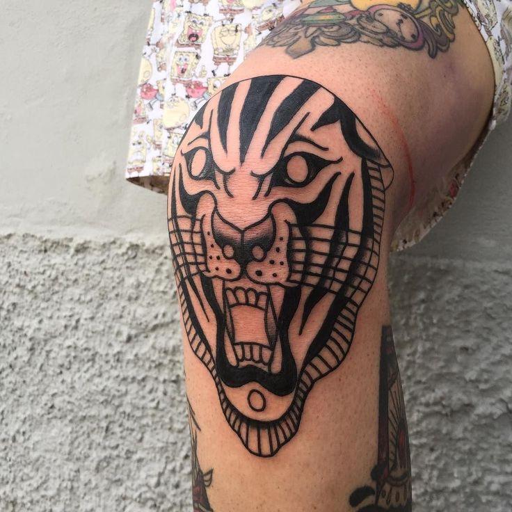 Tiger knee. Round 1. Thx Valentina! #skinfantasiestattoo