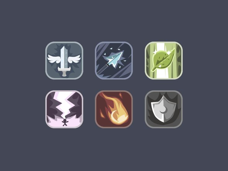 RPG icons by Darina Matvienko