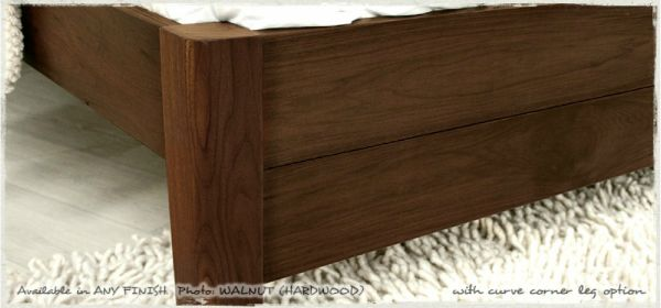 Oxford Bed Frame - With Curved Corner Legs - Handmade by Get Laid Beds