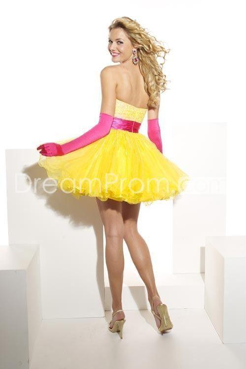 Yellow homecoming dress