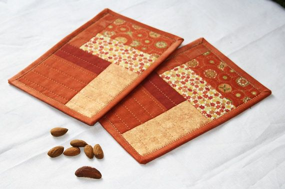 mug rug - like the fabric layout