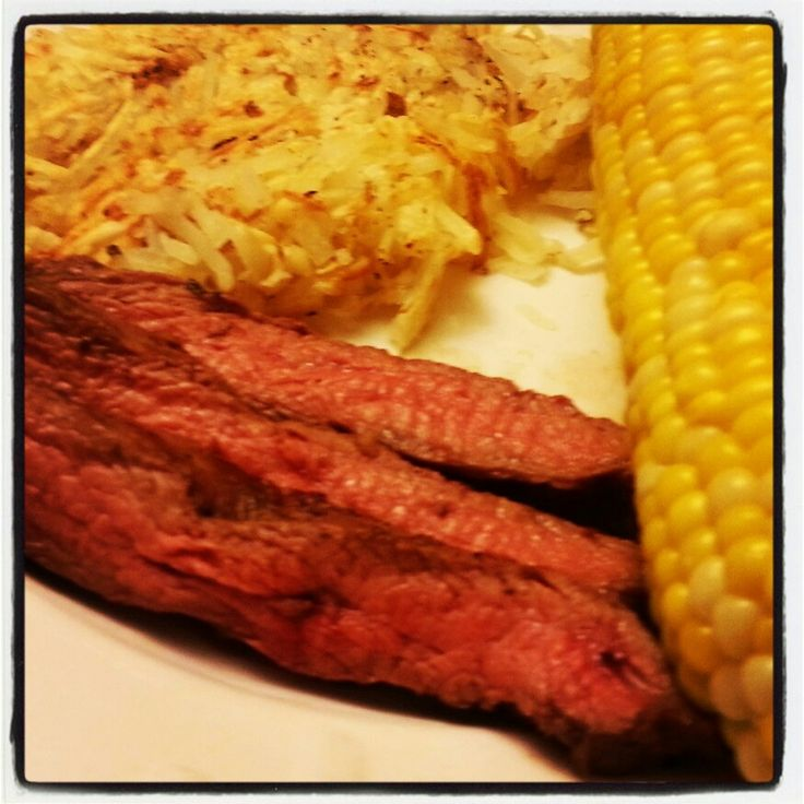 My dads sweetcorn  and flank steak