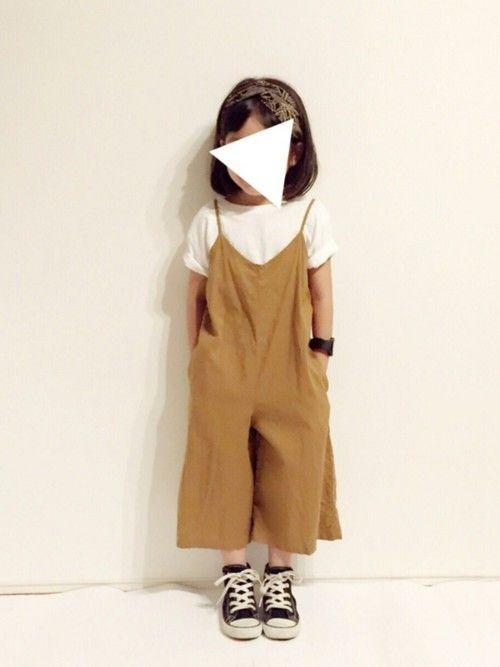 yuuunaさんの「スター刺しゅう入り半袖Tシャツ(petit main)」を使ったコーディネート