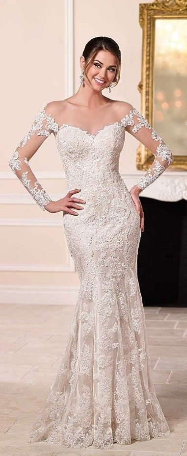 Cute Off-the-shoulder Appliques Wedding Dress. See at http://www.cutedresses.co/product/off-shoulder-appliques-wedding-dress/