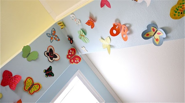 Violet and I did this today - We now have a spring butterfly covered arch in the kitchen!!