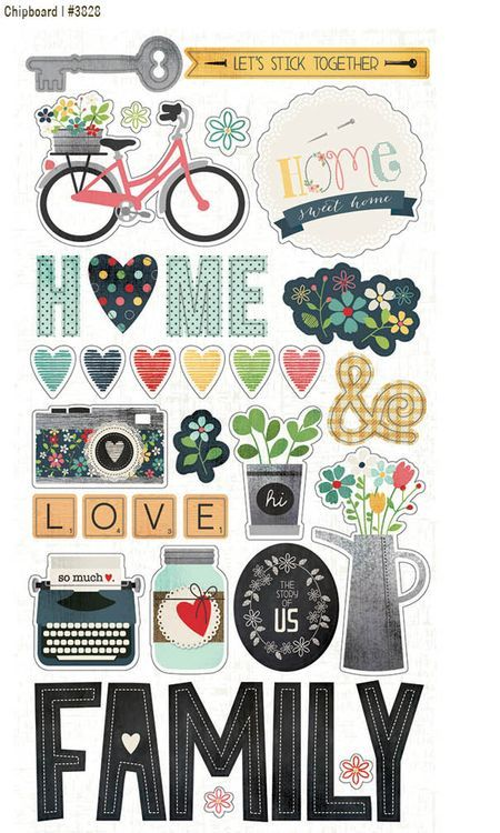 Sn@p Homespun chipboard stickers