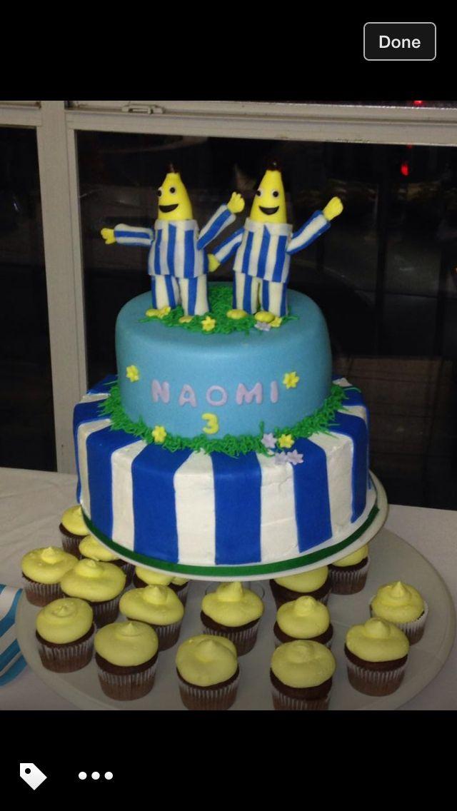 Bananas in pajamas fondant cake