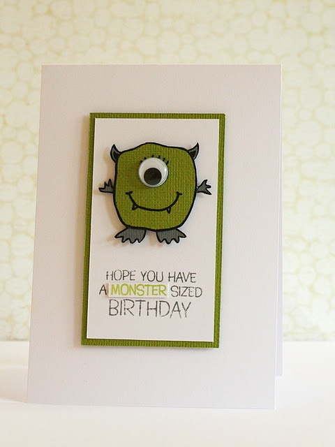 kid birthday card cute! Possible first birthday idea?  Come celebrate our lil' monster's first birthday...